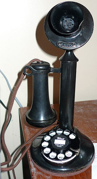A Candlestick Phone (image courtesy of WIkipedia)