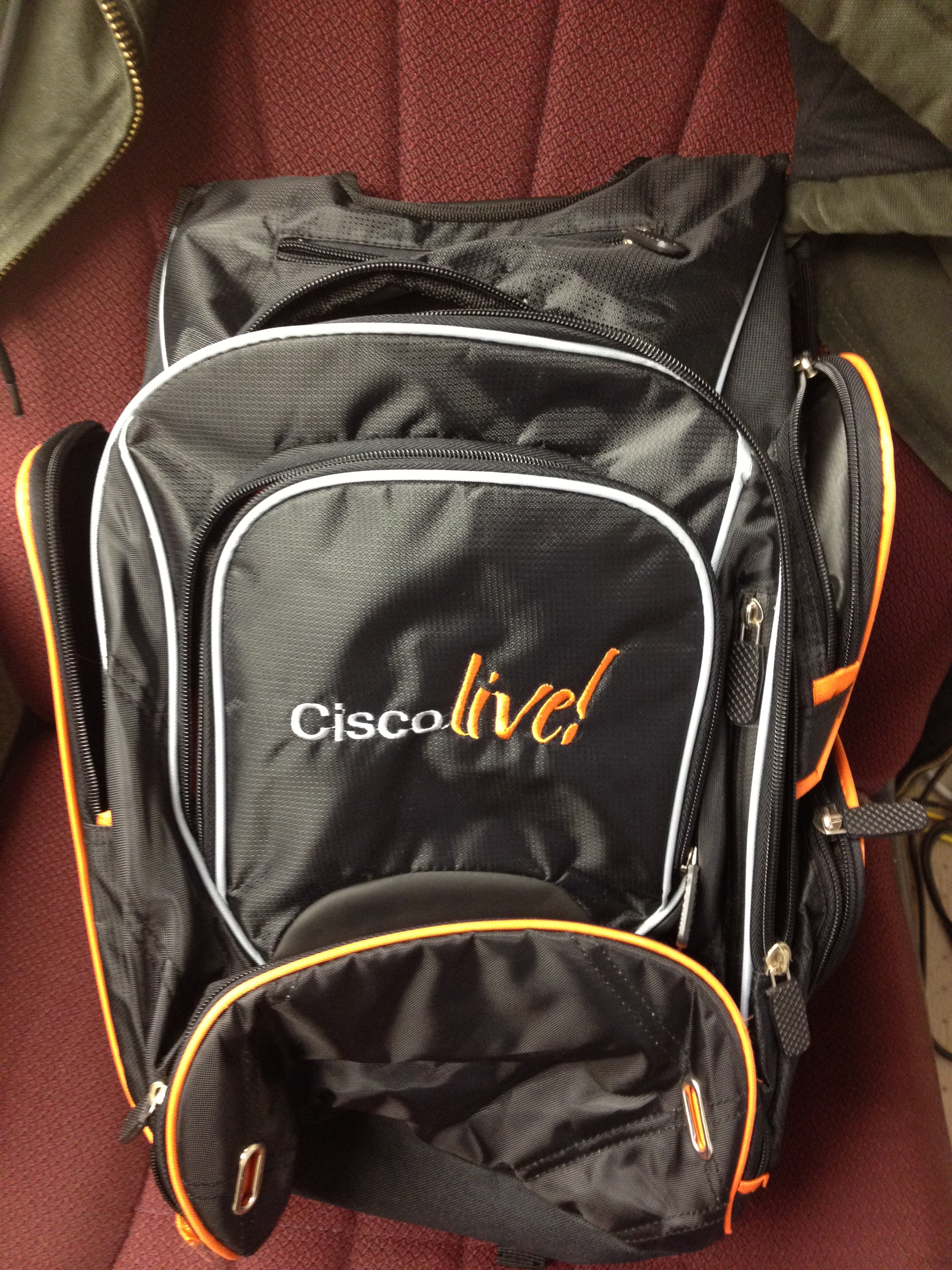 467cc789c Las Vegas still had more to give Cisco Live, and so we found ourselves back  again in 2011. This conference bag was the first in a while to have the  bright ...