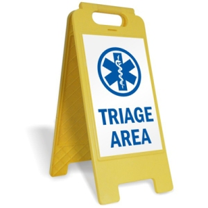 Triage-Area-Plastic-Floor-Sign-SF-0142